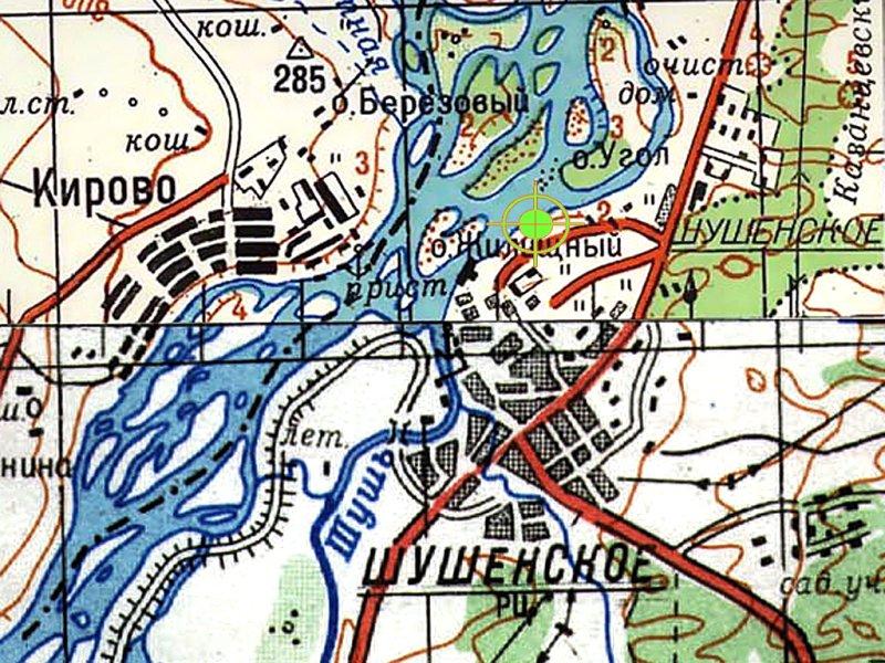 Местоположение трассы с.Шушенское