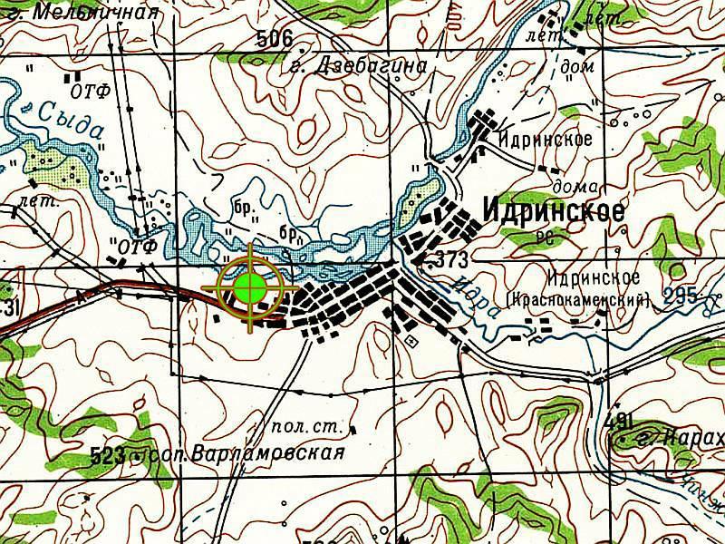 Местоположение трассы с.Идринское