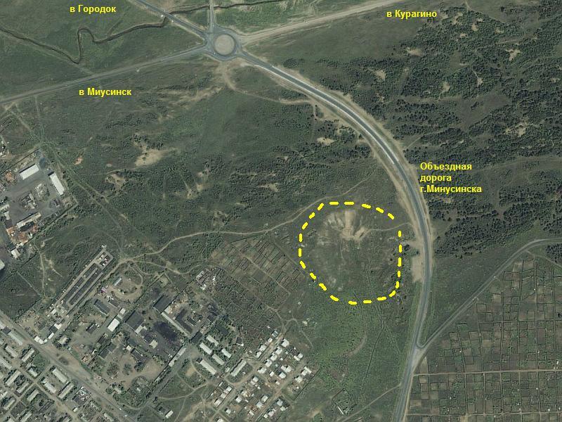 Местоположение трассы г.Минусинска