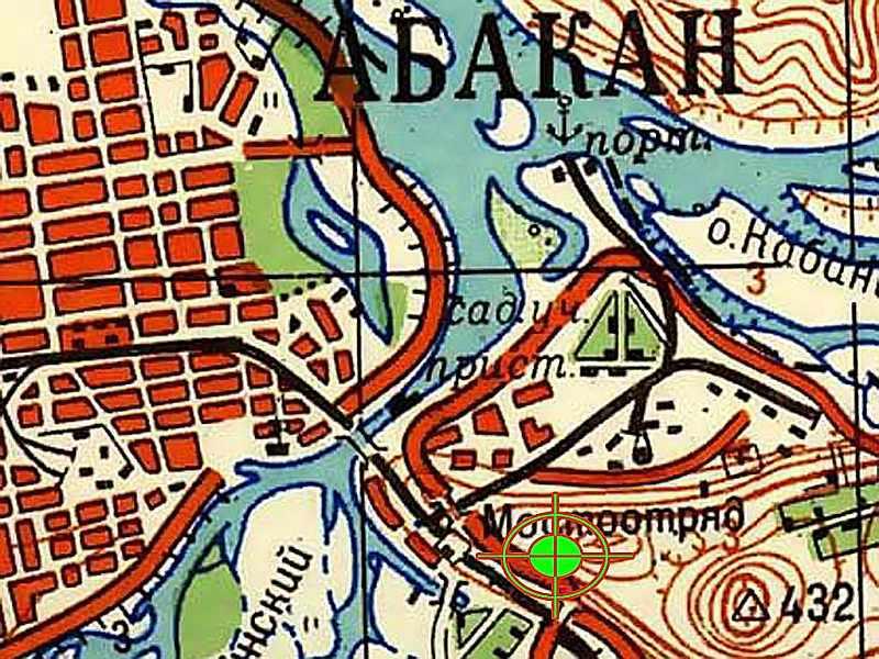 Местоположение трассы Самохвал