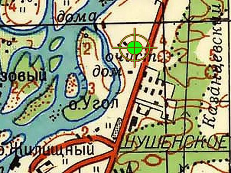 Местоположение картодрома с.Шушенское