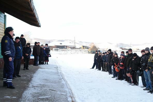 Картодром с. Боград. Церемония открытия соревнований