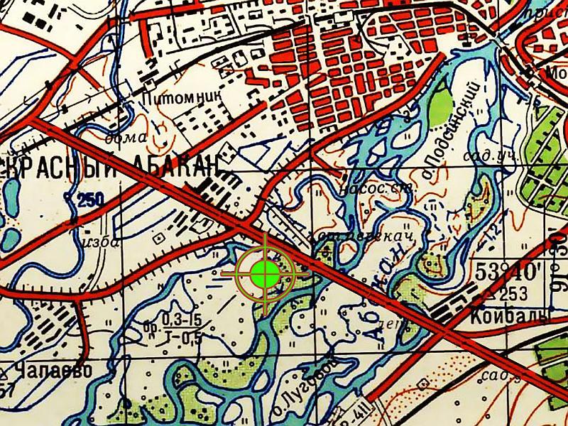 Местоположение трассы Абаканская протока