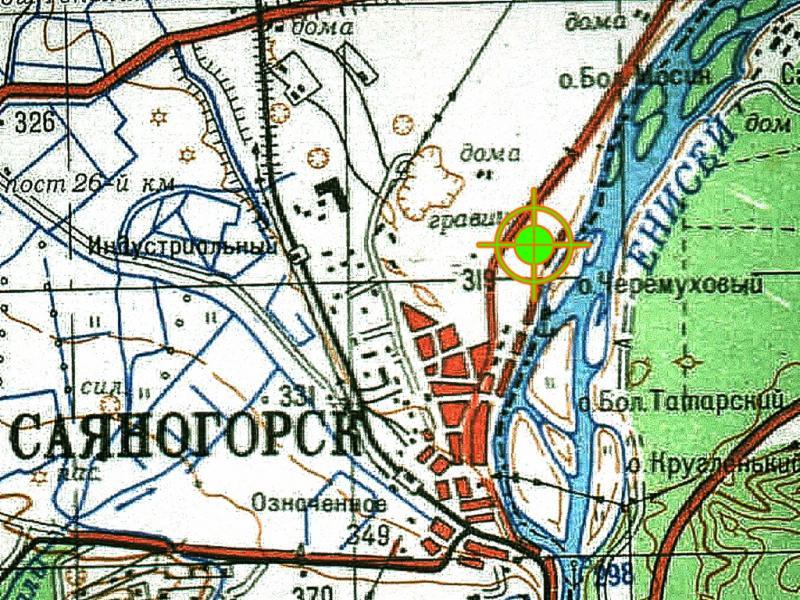Местоположение трассы Саяногорский аэродром